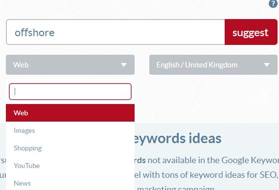 Übersuggest your friendly keyword tool
