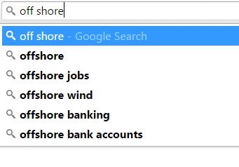 Ubersuggest - List of suggested search terms produced by Google's auto suggest