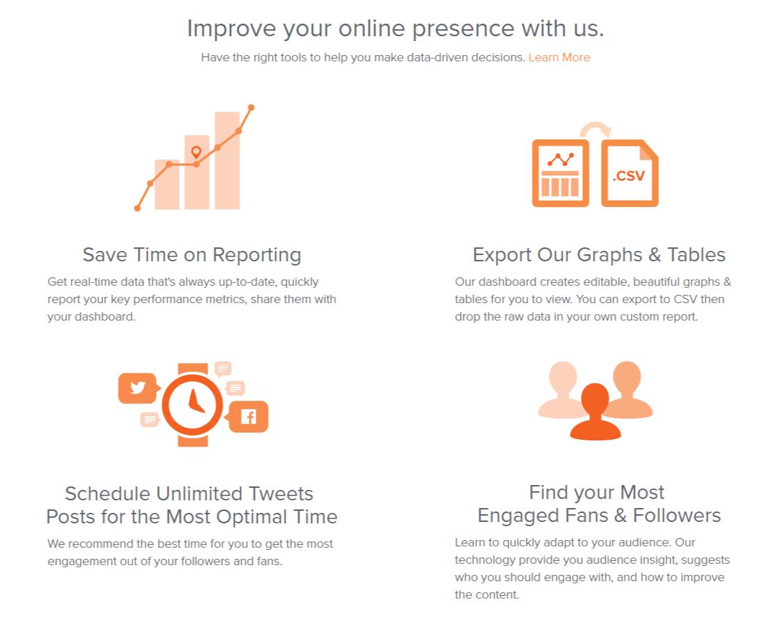 Crowdbooster social media marketing options