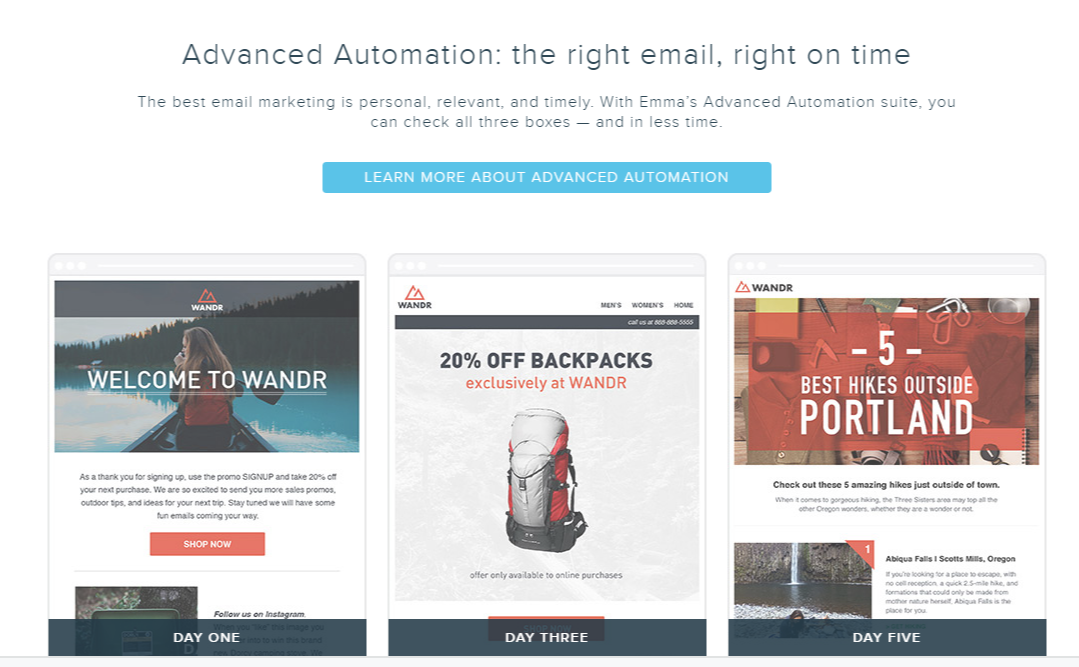 emma email marketing automation