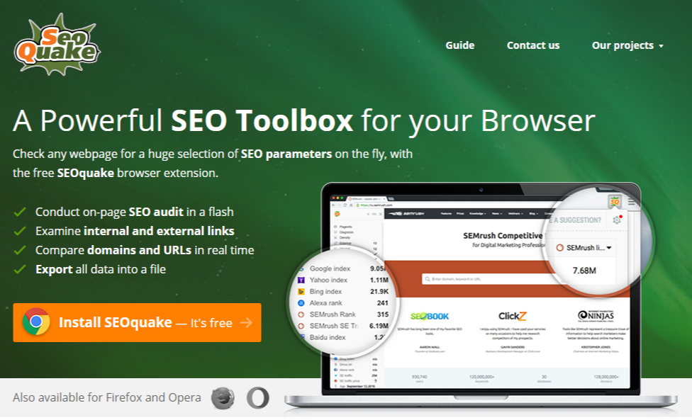 A Powerful SEO Toolbox for your Browser – SEOquake
