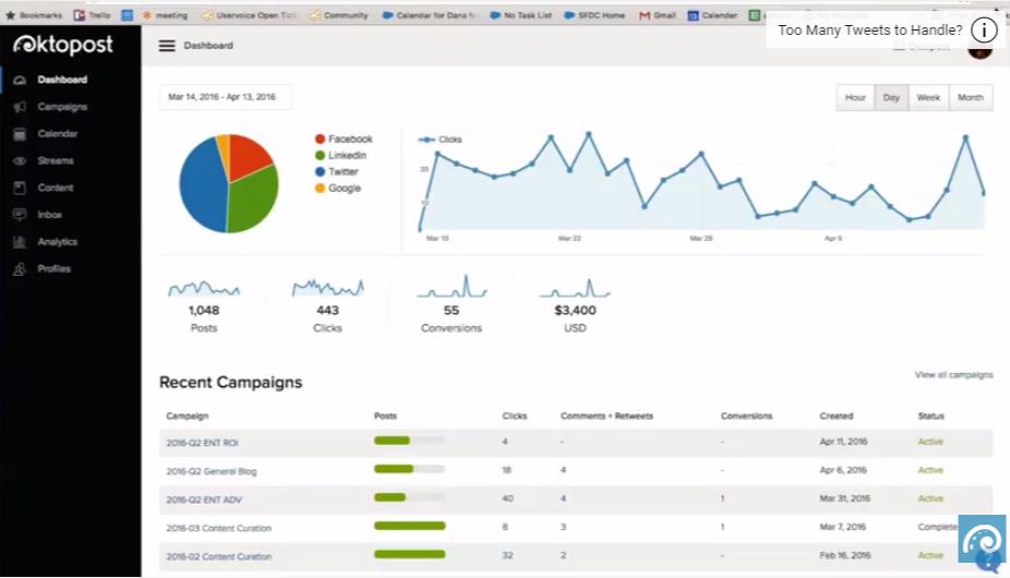 Oktopost Social Media marketing platform