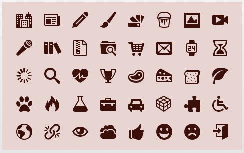 IcoMoon symbols
