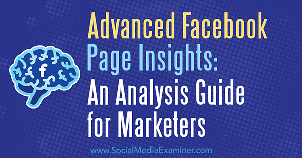 Advanced Facebook Page Insights: An Analysis Guide for Marketers