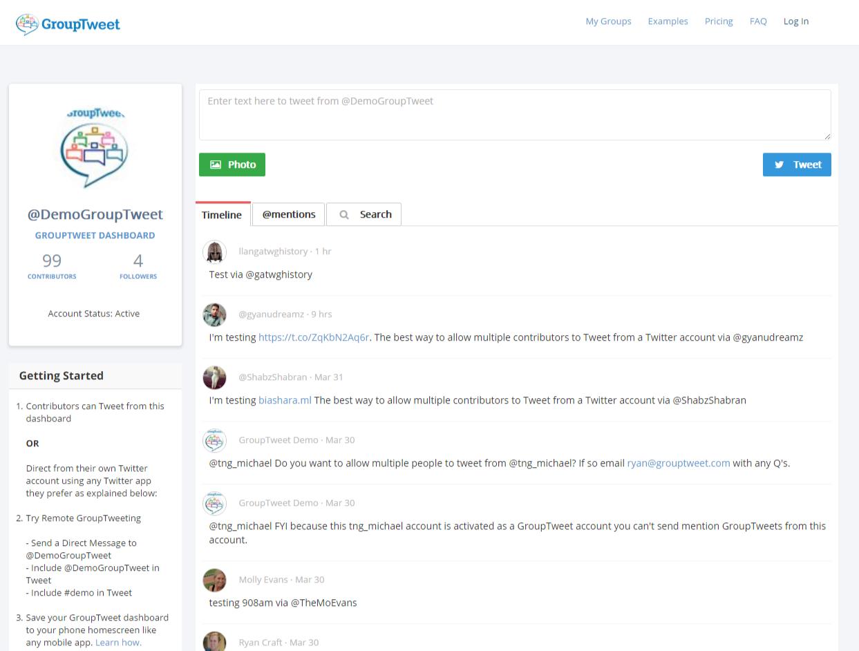 GroupTweet Twitter Marketing Tool