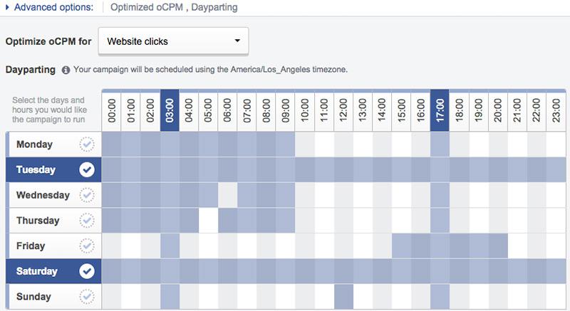 AdEspresson Dayparting tool
