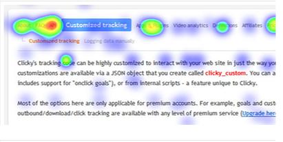 Clicky.com Heatmaps