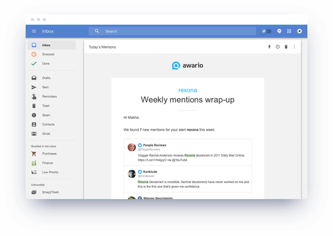 Awario Updates by Email