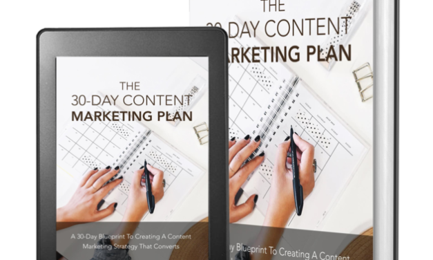Your FREE 30 Day Content Marketing Plan